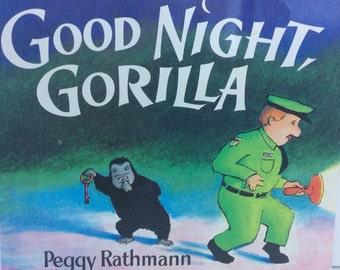 Vintage 1995 softcover Good Night Gorilla.