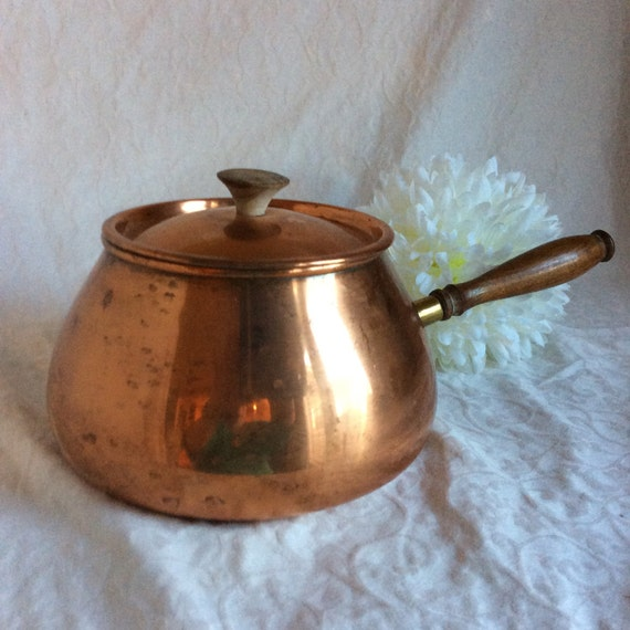 Vintage Tagus Copper Pot With Lid Made In Portugal