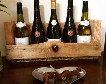 Wine Rack - reclaimed pallet wood