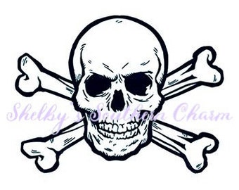 Skull & Crossbones SVG/DXF/eps files