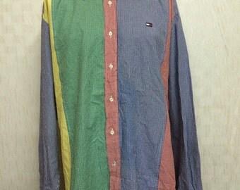 Vintage X-Large TOMMY HILFIGER Multicolor Shirt