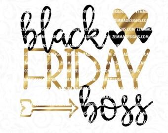 Black Friday svg - Black friday boss - fall svg files - shopping svg - Thanksgiving svg