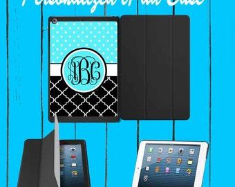 iPad Case iPad mini Case iPad Air Case Monogram iPad Case Monogram iPad Mini Case Monogram Teal Black Lattice