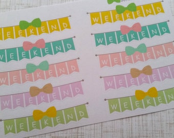 Weekend Bow Banners (Set of 10) Item #056