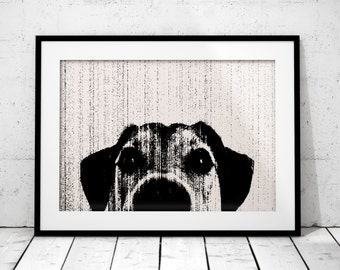 Dog print, dog art, Black and White print, Printable wall art,  wall art print Instant Download