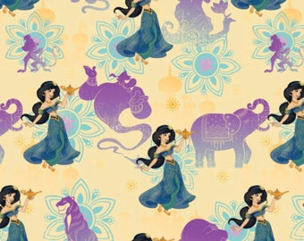 Disney Aladdin Lamp Fabric By the Yard