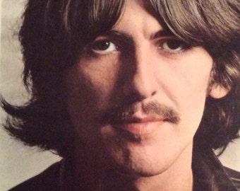 Vintage Original George Harrison 8 x 10 Glossy Photograph, 1970's Celebrity Publicity Picture, The Beatles, Beatles Memorabilia
