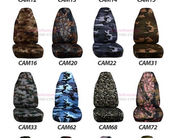 Camouflage Car Seat Covers....Many Colours...We Make for all Cars /SUV..