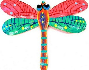 metal art  handmade dragonfly 9 inches long wall decor garden