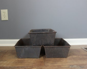 Vintage Industrial  Metal Storage Bin OFFICE ORGANIZATION