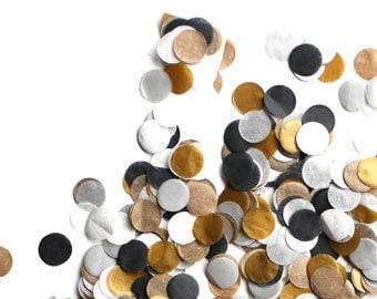 Hand-Cut Confetti - Tuxedo