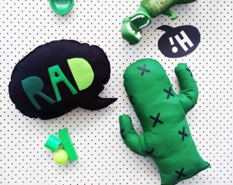 Cactus Cushion in green or black: kids room decor