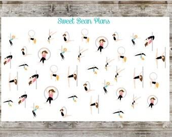 35+ Pole/Hoop Dancing Stickers