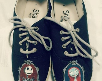 Jack and Sally 'Nightmare before Christmas' sneakers