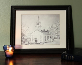 NEW DESIGN! Print: Little Country Church