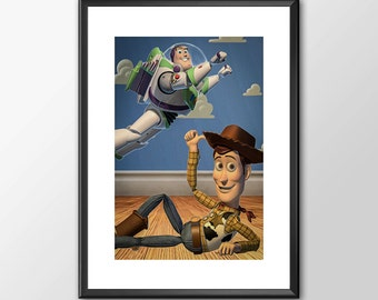 Toy Story  - Digitally Painted Tribute  - PRINTED - BUY 2 Get 1 FREE