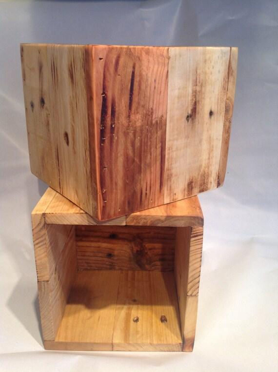 Storage box planter reclaimed wood storage by for Pallet wood storage box