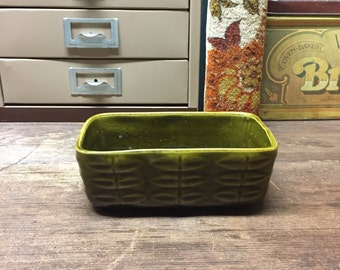 Vintage decor Planter Olive Green Green Thumb