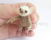 Miniature Jointed Two Toed sloth figurine