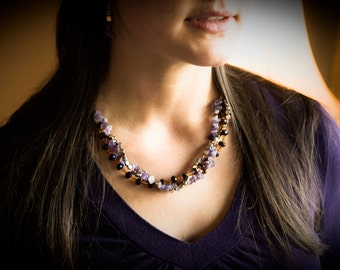 Purple and Copper Cluster Set