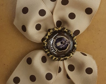 New Orleans Saints Hairbow for Newborns, Toddler, and Girl Hairbow