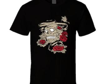 Skull t-shirt for someone special. Skull tshirt for her or him. Skull tee as present. Skull idea gift. Buy a wonderful Skull gift top