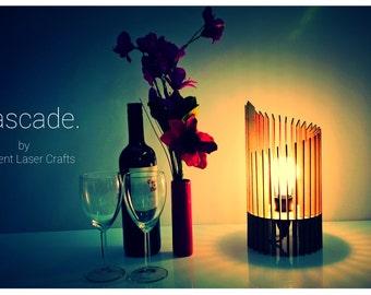 Cascade Design Laser Cut Wooden Table Lamp Shade