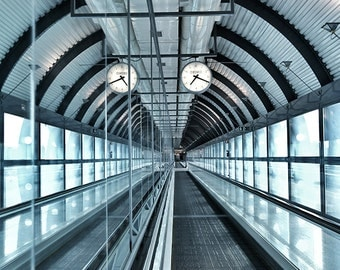 Architecture Art, Geometric Architecture Wall Art, Architectural Photography, Geometric Art, Mirror Photo, Madrid Airport Photography,Office