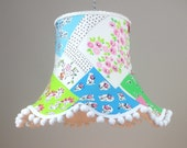Image of 18 lampshade handmade in a designer Guilds childrens design fabric
