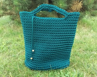 Deap green colour bag