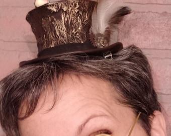 Steampunk Birdie Mini Top Hat \ Steam Dream Treasures \ gift \  steamdreamtreasures \ Victorian \ goth \ halloween \ fiction
