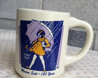 Bryan China Morton Salt Mug, Morton salt 150 Years, vintage Morton Salt Coffee Mug, Morton Salt Coffee Cup