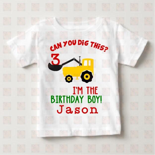 Bulldozer Birthday Shirt Construction Toddler