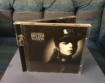 """Vintage CD Janet Jackson - """"Rhythm Nation -1814"""" -Released 1989"""