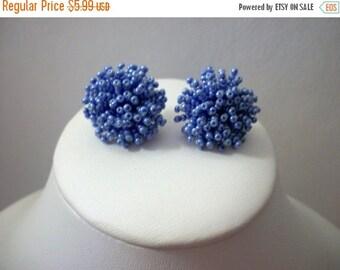 ON SALE Vintage Periwinkle Cluster Earrings 998