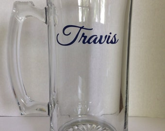 27 oz. Beer Mug with Name -choose your colors and font!