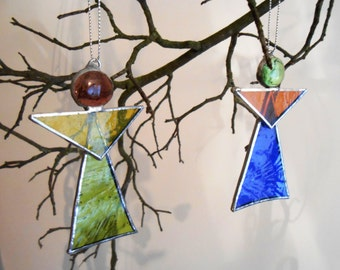 Handmade Stained Glass Angels