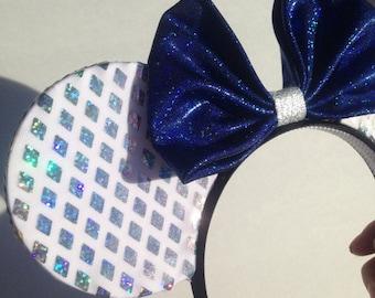 60th Diamond Anniversary glitter ears headband