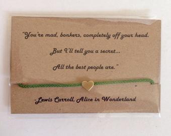 Quote bracelet friendship bracelet