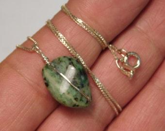 Handmade Sterling Silver & Aventurine Necklace pendant