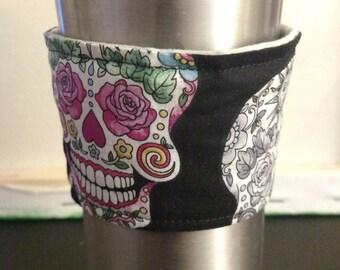 Sugar Skull Coffee Cozy