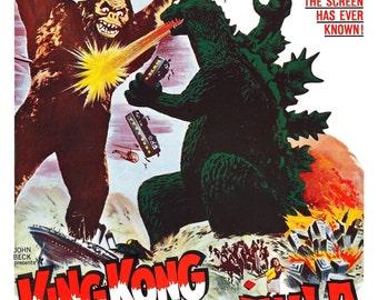 King Kong vs. Godzilla Movie POSTER (1962) Action/Adventure