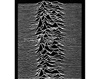 Unknown Pleasures by Joy Division (1979) POSTER