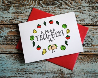 Taco-bout it friendship blank greeting card