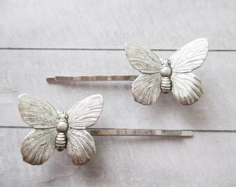 horquillas de mariposa grande latn plateado accesorios para el pelo adorno pelo horquillas