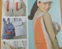 Sewing pattern Butterick 4147 Visor and utility bags new uncut