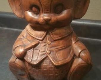 Vintage Mouse Cookie Jar - Vintage Cookie Jar - Mouse Cookie Jar - Treasure Craft Cookie Jar - Cookie Jar - Mouse Decor - Brown Cookie Jar