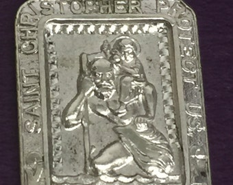 Sterling Silver Saint Christopher medal/Pendant