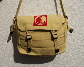 Hand painted messenger bag - 'Desert Rats' haversack/messenger bag