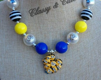 SALE! Minions Chunky Necklace